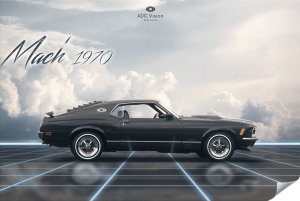 Poster-Retrowave-Ford-Mustang-Mach1-1970-artist-Adcvision