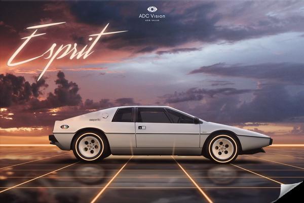 Poster-Retrowave-Lotus-Esprit-S3-Artist-Adcvision