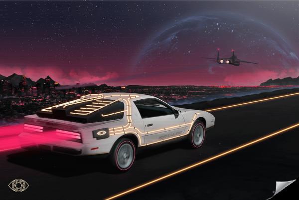 Poster-Retrowave-Pontiac-Firebird-Formula-350-Artist-Adcvision